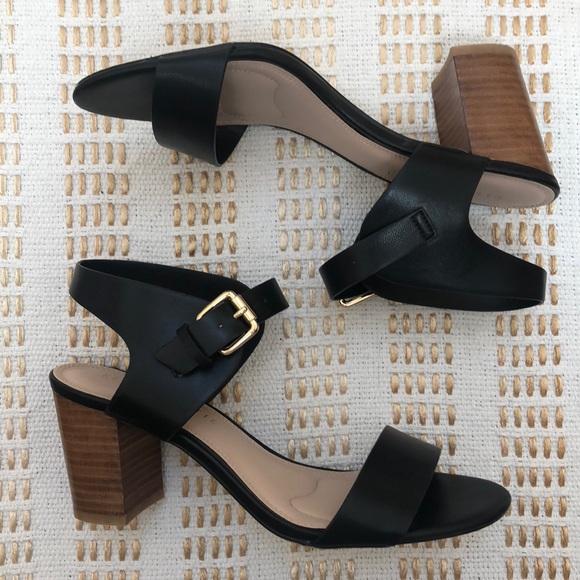 Kelly Katie Frilisa Stacked Heel Sandal